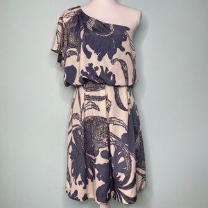 Jessica Simpson off the shoulder floral dress